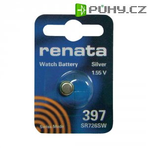 Knoflíková baterie na bázi oxidu stříbra Renata SR59, velikost 397, 32 mAh, 1,55 V