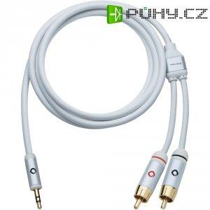 Připojovací kabel Oehlbach, jack zástr. 3.5 mm/cinch zástr., bílý, 1,5 m