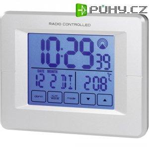 DCF budík s dotykovým displejem, RC 246 8935c32, 125 x 45 x 97 mm, stříbrná