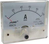 69C9 panelový MP 100A=(50mV) 80x65mm, bez bočníku