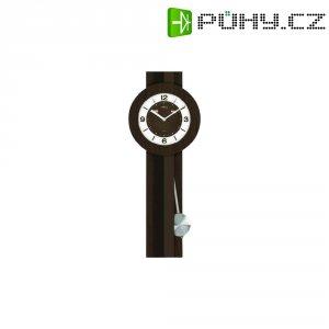 Quarz kyvadlové hodiny - pendlovky, 5081/20, 23 x 54 cm, dřevo, sklo, kov, tmavě hnědá