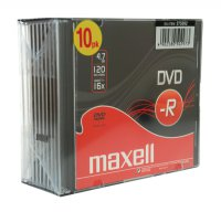 DVD-R 4,7GB MAXELL 16x 10PK SC 10ks