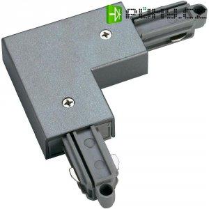 Rohová spojka SLV pro 1fázový HV kolejnicový systém 143052, stříbrná