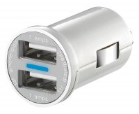 Adaptér USB 12V/5V/2x1A micro.