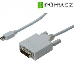 Kabel DVI vidlice ⇔ Mini-DisplayPort vidlice, 2 m, bílý