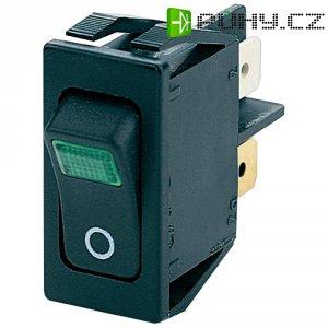 Kolébkový spínač Marquardt 1555.3108, 2x vyp/zap, 250 V/AC, 16 A, zelená/černá