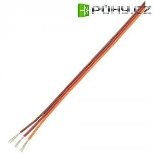 Servo kabel plochý Modelcraft, 5 m, 3 x 0.17 mm², hnědá/červená/oranžová
