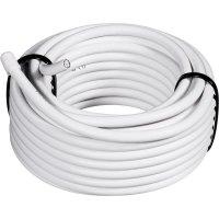 Koaxiální kabel Conrad 0806003/10, stíněný, bílá, 10 m