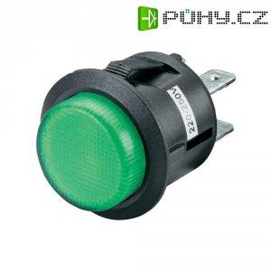 Tlačítkový spínač R13-527BL-02 zelený NE 250VAC