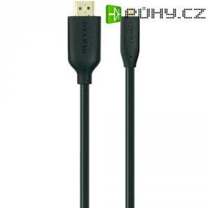 HDMI Belkin High Speed micro kabel s ethernetem, zlaté kontakty, 3 m, černý