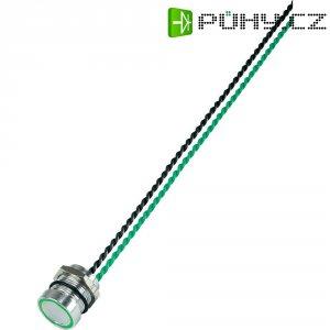 Piezo tlačítko, 24 V DC/AC, 0,2 A, IP 68, PS165P10Y01G24, zelená LED, ploché