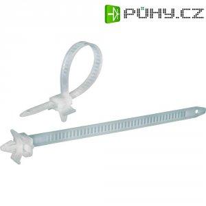 Stahovací pásky s příchytkou KSS PHV150, 150 x 7,9 mm, 100 ks, přírodní
