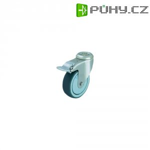 Otočné kolečko se závitem pro šroub a brzdou, Ø 80 mm, Blickle 574343