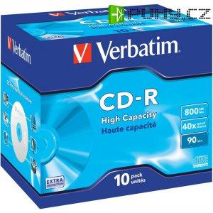 CD-R 90 800 MB Verbatim 43428 10 ks Jewelcase