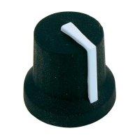 Otočný knoflík Cliff CL170849BR, pro sérii K87MBR, 6 mm, s drážkováním, černá