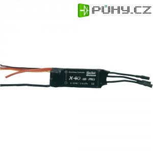 Regulátor otáček Brushless Hacker X-Pro, 8 - 18 NiCd / 2 - 6 LiPo, 40 A, JR