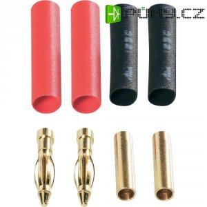 Kontakt 1,5 mm Modelcraft, zástrčka a zásuvka, zlacený, 2 páry