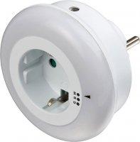 Noční světlo LED s fotoodporem do zásuvky, 230V/0,8W
