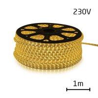 LED pásek 230V, 5050 60LED/m IP67 max. 14.4W/m TEPLÁ, cena za 1m, zalitý