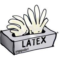 Jednorázové rukavice Leipold + Döhle, nepudřené,vel. L, latex, 100 ks