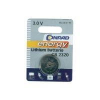 Knoflíková baterie Conrad energy CR2320, lithium