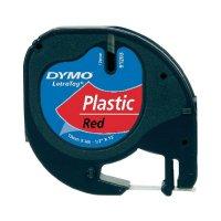 Páska do štítkovače DYMO 91223 (S0721680), 12 mm, LT LetraTAG, 4 m, černá/červená Mars