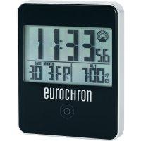 DCF budík Eurochron EFW 30 i, RC 120X, 70 x 88 x 18 mm, černá
