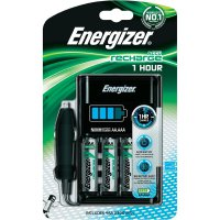 Nabíječka akumulátorů 1 hodina + 4 akumulátory AA Energizer CH1HR3, AAA, AA