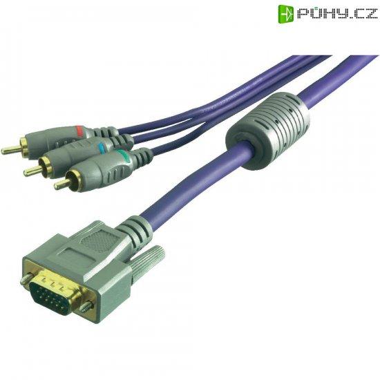 Kabel adaptéru Sound & Image 3x cinch konektor (RGB) na VGA konektor - Kliknutím na obrázek zavřete