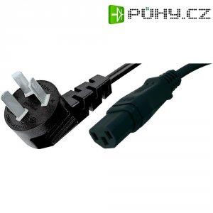 Síťový kabel Hawa, 1008258, zástrčka (Čína)  IEC zásuvka, 2 m, černá
