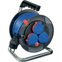 Kabelový buben Brennenstuhl Garant 180, 1079850, 3 zásuvky, 15 m, modrá