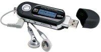 Diktafon, přehrávač MP3, rádio AK301 černý