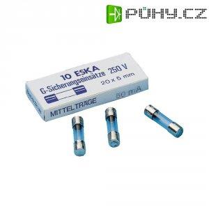 Pojistka trubičková středně pomalá -mT- 0.63 A 250 V ESKA 10 ks