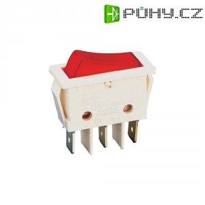 Osvětlený kolébkový spínač B116 C2G 000, 1x vyp/zap, 250 V/AC, 16 A, červená/bílá