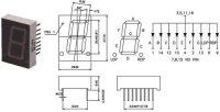 JS1-8011BB zobrazovač .8. modrý 20mm,spol.anoda