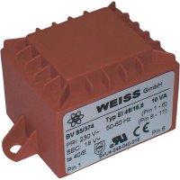 Transformátor do DPS Weiss Elektrotechnik EI 48, prim: 230 V, Sek: 2x 15 V, 333 mA, 10 VA