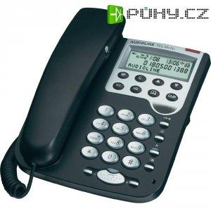 Stolní telefon Audioline Tel 36 Clip, černá/stříbrná