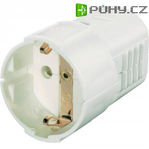Zásuvka na kabel, 0201, schuko, bílá
