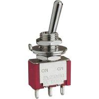 Páčkový spínač Eledis 1A23-NF1STSE, 250 V/AC, 2 A, 2x zap/vyp/zap, 1 ks
