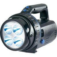 Akumulátorový ruční LED reflektor IVT Profi, LED PL-838 4x1WB, černá