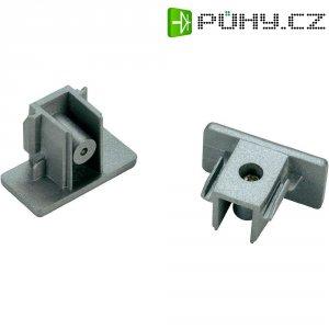 Koncové krytky SLV pro 1fázový kolejnicový systém, 143132, 2 ks, plast, stříbrná/šedá