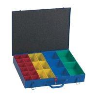 Kufřík na součástky Alutec 10550, 23 přihrádek, 440 x 66 x 330 mm, modrá