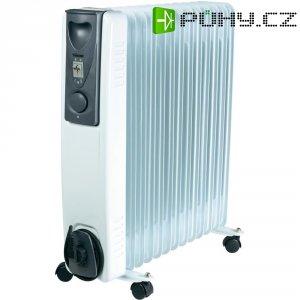 Olejový radiátor Rippen KA-5116, 13 žeber, 1000/1500/2500 W, bílá