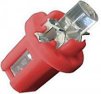 Žárovka LED B8,5D 12V/0,2W červená