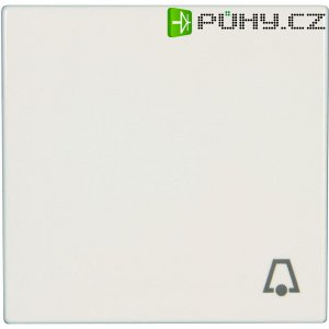 Krytka vypínače se symbolem zvonku Jung, LS 990 K WW, bílá