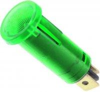 Kontrolka 12V zelená, průměr 12,5mm