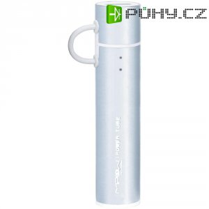 Mobilní akumulátor PowerTube Mipow, 2600 mAh, stříbrný