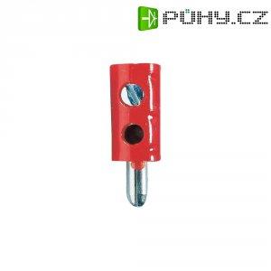 Bezpečnostní konektor, zástrčka rovná, Ø 2,6 mm, červená