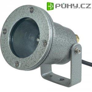 Halogenové svítidlo pod vodu, 20 W, IP68, litý hliník, stříbrná