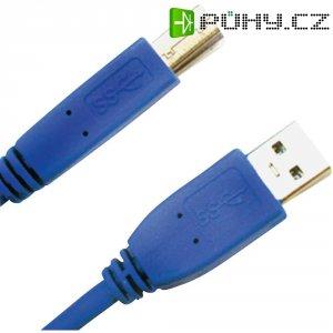 Kabel USB 3.0 A/B 1 m modrý